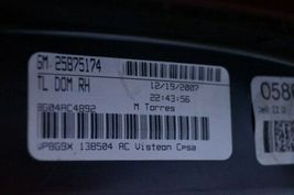 08-13 Cadillac CTS 4 door Sedan LED Rear Tail Light Lamp Passngr Right Side - RH image 8