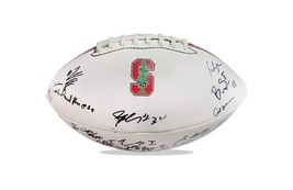 2015 Stanford Cardinal team signed football w/Certificate autographed (51) - $203.94