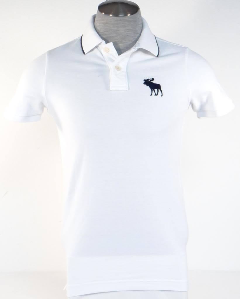 ddbe22cf Abercrombie & Fitch White Short Sleeve Polo and 50 similar items. S l1600