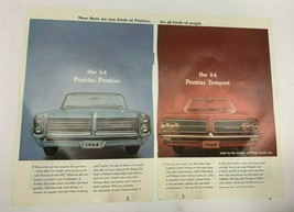 1964 Pontiac Bonneville Tempest: Two Kinds of Pontiac Vintage Print Ad - $9.85
