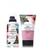 2 Pc Bath & Body Works Pink Magnolia Mousse to Oil and Body Scrub - $22.99