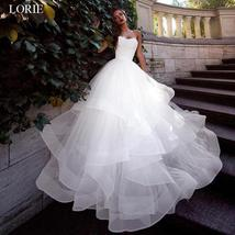 Sweetheart Back Lace up Tulle Ruffle Princess A-line Bridal Wedding Dress image 3