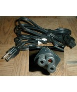 AC Power Cord Standard 6ft 3 Barrel Compaq HP Dell o0o 2.5a - $4.90