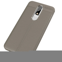 Litchi Texture TPU Case for Nokia 5.1 Plus(X5)(Grey) - $6.87