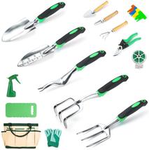 Garden Tools Set Crenova 34-Piece Heavy Duty Gardening Tools with Prunin... - £32.25 GBP