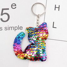 Glitter Key Chain Animal Sequins Gift Bag Accessories Key Ring Jewelry P... - $5.19