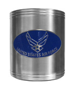 air force logo usaf military color emblem steel can cooler made in usa - £13.84 GBP