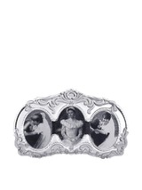 """MIKASA """"PRINCES"""" TRIPLE PICTURE Frame OVAL CRYSTAL CLEAR MADE IN GERMANY... - $49.60"""