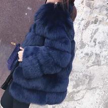 Women's Winter Luxury Fashion Faux Fur Shaggy Thicken Warm Coat image 3