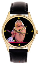 STUNNING EROTIC BABE LAWN TENNIS SEXY DIAL COLLECTIBLE PLAYBOY WRIST WAT... - $95.15