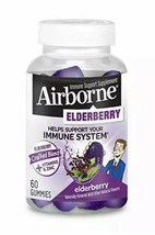 Elderberry Vitamins & Zinc Crafted Blend Gummies Airborne (60 Count in a Bottle) - $17.50