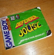 Arcade Classic 4, Gameboy, Defender Joust, 1995: INSTRUCTION BOOKLET ONLY - $7.50