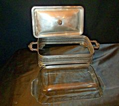 Sterling Silver Server  with Fire King Glass Ware AA-191818  Antique image 6