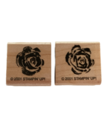 Stampin Up Rubber Stamp Roses Set of 2 Flowers Love Small Card Making Crafting - $4.50