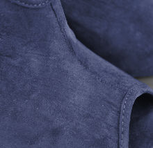 Bakers Women's Navy Blue Faux Suede Ankle High Heel Open Toe Booties  Size 7B image 4