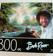 New Bob Ross Art 300 Piece Mini Jigsaw Puzzle Deep Forest Lake Family Tr... - $8.68