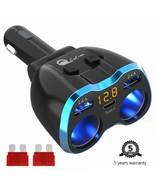 USB C Car Charger Cigarette Lighter Splitter Adapter 2 Socket Type C Mul... - £14.97 GBP