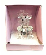Home For ALL The Holidays Crystal Birthday Bear 3 inches (April/Diamond) - $17.33
