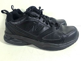 New Balance Womens Black Leather Athletic Shoes Size 8, 39 EU S5 - $22.99