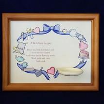 Hummel Goebel Kitchen prayer 1090-D with holder - $6.93