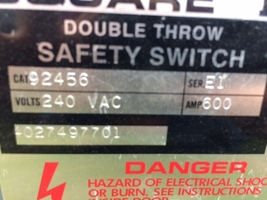 Double Throw Safety Switch For Sale in Colfax, Louisiana 71417  image 3