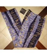 CITI by YANSI FUGEL Purple/Navy Blue Cotton Blend Belize Pants (10) NWT - $48.90