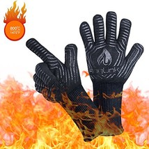 AngLink BBQ Grill Gloves, 1472F Extreme Heat Resistant Grilling Gloves f... - $23.17