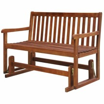 vidaXL Patio Acacia Wood Garden Glider Bench Porch Swing Chair Outdoor Seat - $115.99