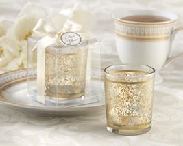 48 Gold Renaissance Glass Tea Light Candle Holder Wedding Favor in Gift Box - $105.97