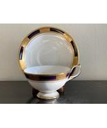 Aynsley China Empress Cobalt Cup and Saucer  - $75.00