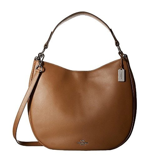Primary image for Coach Glovetanned 36026SVSD Beige Tan Leather Calf Nomad Hobo Ladies Handbag