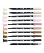 Tombow ABT Dual Brush Pens (Brush Tip + 0.8mm Fine Tip) 10-Color Set, Po... - $33.99