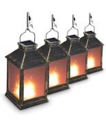 (Set of 4) 10  Vintage Style Solar Powered Lantern Fame Effect(Metallic ... - £41.09 GBP
