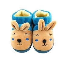 Lovely Rabbit Winter Baby Shoes Warm Indoor Slippers(Blue, 4-5 Years Old)