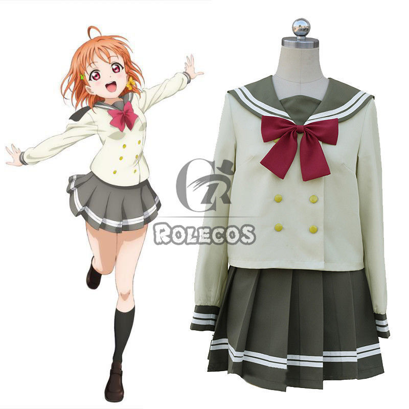 Primary image for LoveLive!Sunshine!! Takami Chika Sailor Suit School Uniform Cosplay Costumes