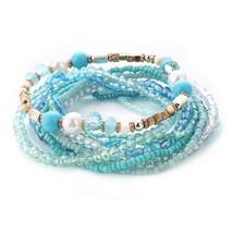 Match-Right Women Bohemia Jewelry of Multilayer Elastic Weave Set Bracelets & Ba - $15.45