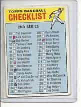 (B-1) 1966 Topps #101b: Checklist 2nd Series - w/ Bill Henry - Creased &... - $5.00