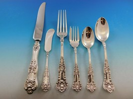 Queens by Birks Canada Sterling Silver Flatware Set Service 48 pcs Dinner K mono - $4,350.00