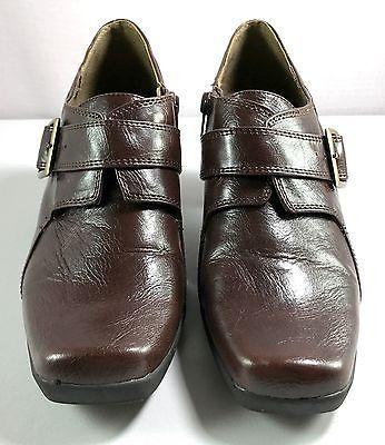 8c417a19870 Aerosoles Pensawcola Bootie Heels Women s Brown Shoes Size 9.5 M