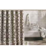 Barbara Barry Poetical Shower Curtain Taupe Off White 100% Cotton - $44.43