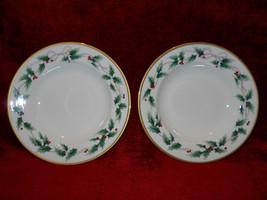 Mikasa Holly Ribbon set of 2 soup bowls - $21.73
