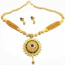 Indian 22K Gold  Bollywood Women Jewellary Gorgeous Necklace Earring set... - $11.88