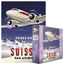 Come To Switzerland By Plane Puzzle, 1000-piece - $11.83