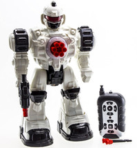 RC Robot Police Unit Toy with Flashing Lights and Sounds (10 Channels) - $20.92