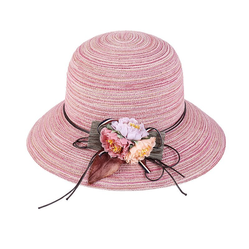 K Summer Floppy Straw Hat Women Ladies Wide Brim Beach Hat Sun Foldable Cap Fema