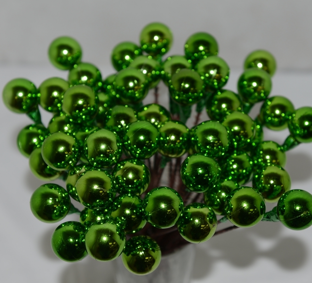 Unbranded Wholesale Lot 54 Green Christmas Ball Pick Decoration 8 inches