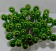 Unbranded Wholesale Lot 54 Green Christmas Ball Pick Decoration 8 inches image 1