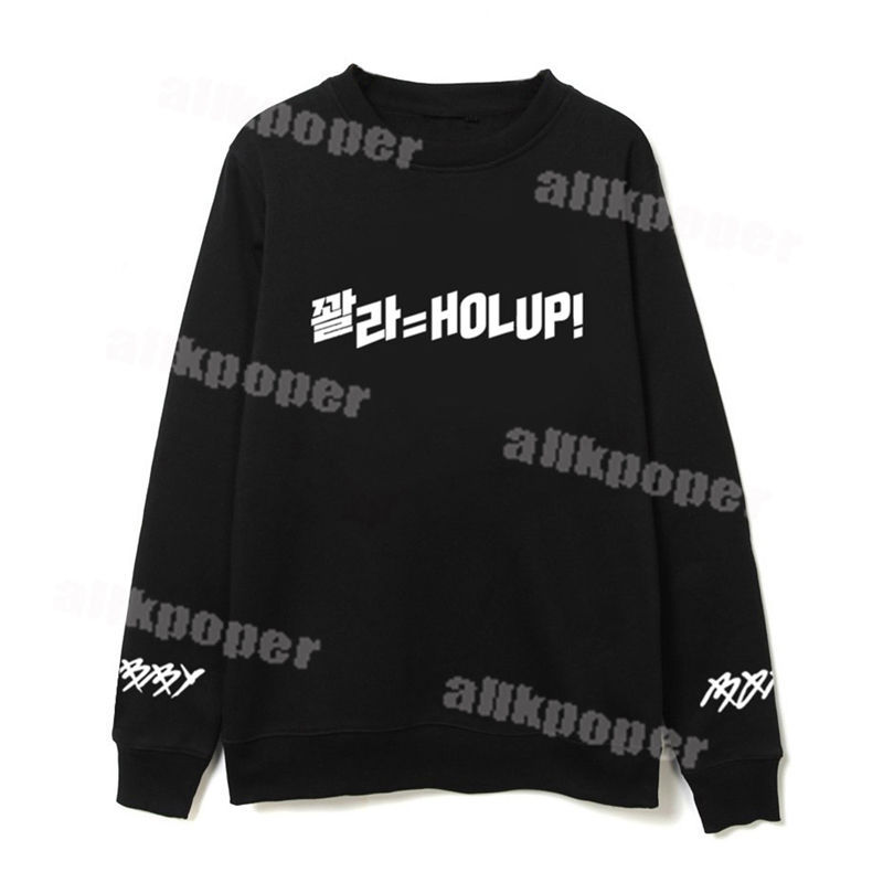 Kpop IKON Bobby Solo HOLUP! Sweater Pullover Sweatershirt Hoodie Unisex