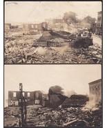 Rockland, Maine (2) RPPC Postcards June 16, 1920 Downtown Fire Destruction - $39.75