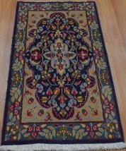 1'9 x 3'8 Beautiful Genuine Persian Kermann Oriental Hand Knotted Wool A... - $187.11